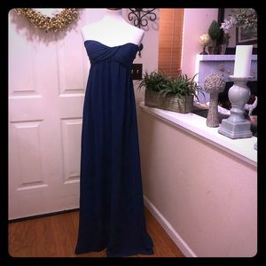 NWT Misguided Navy Blue Strapless Gown !!